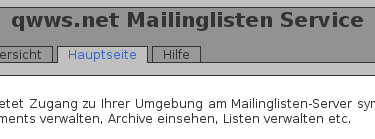 Mailinglisten-Manager
